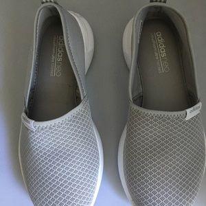 Adidas grey slip on size 7